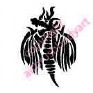 0269 dragon reusable stencil